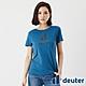 【deuter 德國】女款經典炫光LOGO休閒短袖T恤DE-T2102W海藍/吸濕排汗/輕薄透氣/反光圖T product thumbnail 1