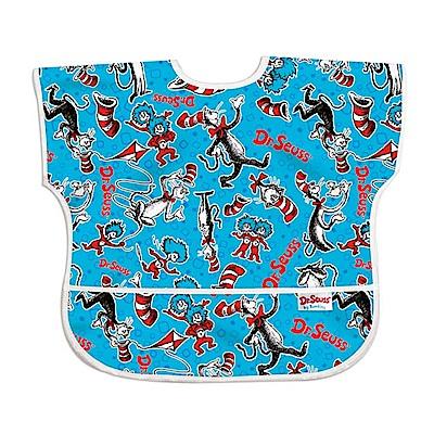 美國Bumkins兒童短袖防水圍兜-帽子貓BKU-C01