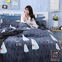 DESMOND岱思夢 單人_法蘭絨床包兩用毯被套三件組 森林浴