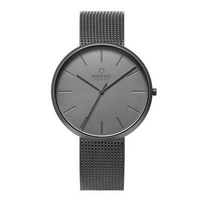 OBAKU 至臻奢華經典腕錶-槍灰色-V219GXUUMU-39mm
