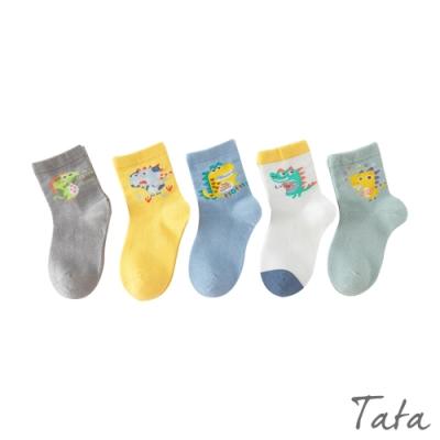 童裝 卡通恐龍襪-五入 TATA KIDS