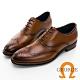 GEORGE 喬治皮鞋經典系列 真皮翼紋雕花牛津鞋 -棕 115013CZ product thumbnail 1