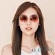 ALEGANT輕時尚漸層蜜糖玫瑰棕粉果凍透視金屬鏡框設計墨鏡│UV400太陽眼鏡│聖家堂的幻彩森林 product thumbnail 1
