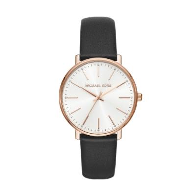MICHAEL KORS簡約風采真皮腕錶/MK2834