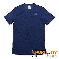 ADIDAS 男 短袖上衣 CE6939-深藍