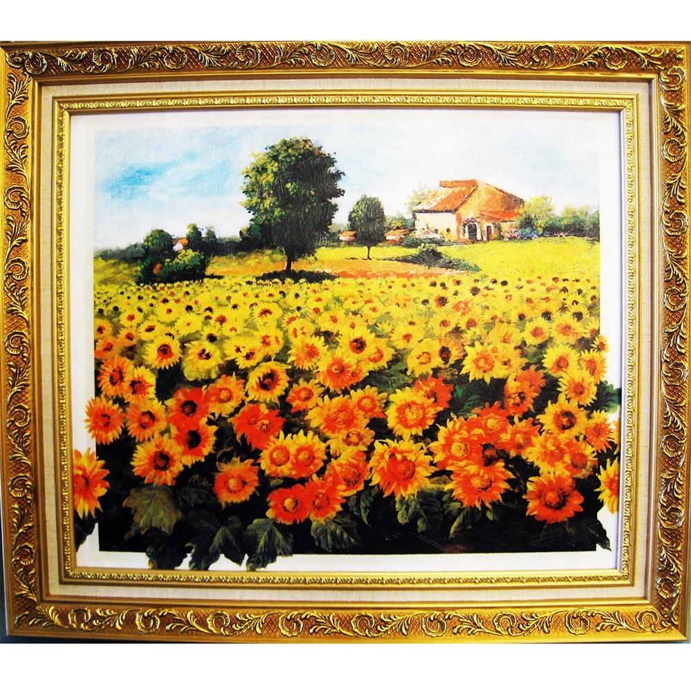 柔美加拿大風光系列 畫作--太陽花【向日葵花田】60x52cm