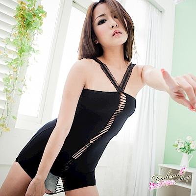 韓系窄款嗆辣情趣內衣 貼臀百搭迷你裙式情趣睡衣 流行E線