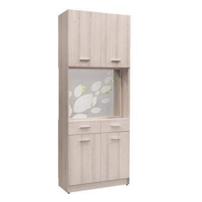 文創集 菲倫2.7尺四門二抽雙面櫃/隔間玄關櫃(雙門開門設計)-80x38x197cm免組