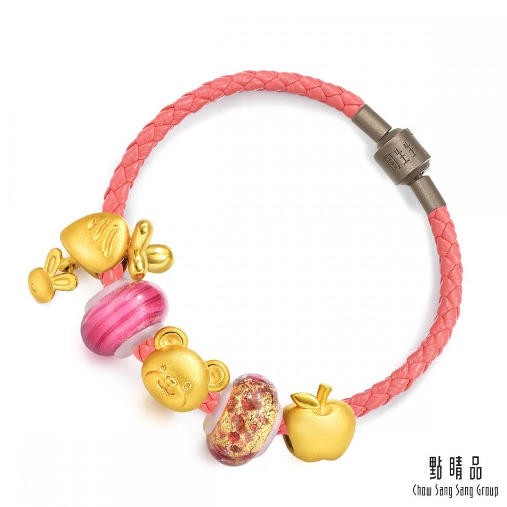 點睛品 Charme Murano Glass「動物森園」黃金彩色琉璃串珠手鍊