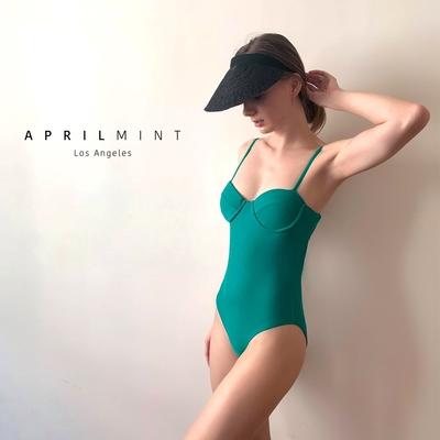 Evan - by April Mint Los Angeles 混材質拼接造型遮陽帽