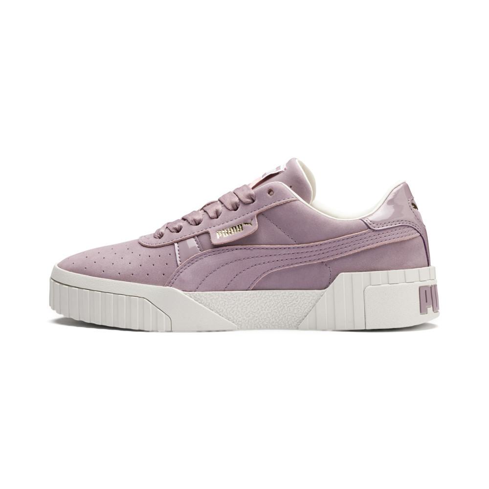 (女)PUMA Cali Nubuck Wn's 復古厚底休閒鞋-粉紫