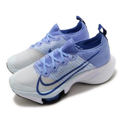 Nike 慢跑鞋 Zoom Tempo NEXT FK 女鞋 氣墊 舒適 避震 路跑 運動 健身 球鞋 藍 白 CI9924400