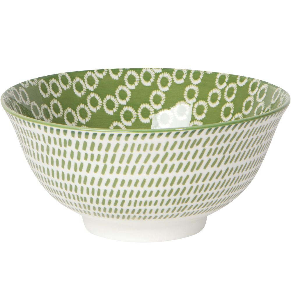 《NOW》圖騰餐碗(斜線綠)