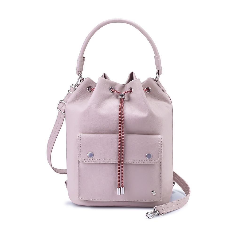 PORTER - 輕甜繽紛SPIRIT百搭時尚水桶包 - 藕粉紫(銀)