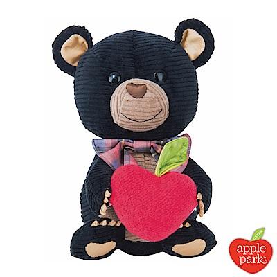 【美國 Apple Park】有機棉玩偶禮盒 - 黑色小熊
