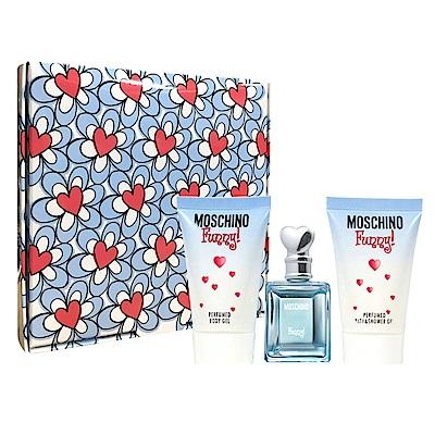 Moschino 愛情趣小香三件組小香禮盒 (香水4ml+身體乳25ml+沐浴膠25ml)