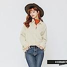 H:CONNECT 韓國品牌 女裝-質感絨面襯衫-白