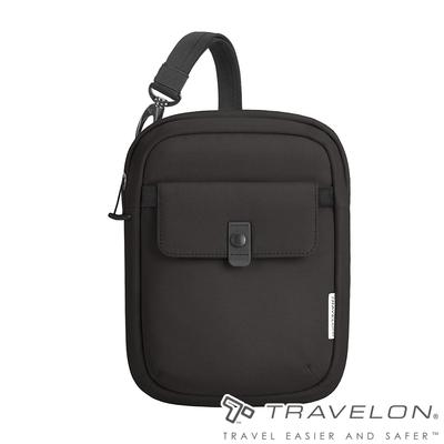 【Travelon美國防盜包】ORIGIN抗菌防盜斜背包TL-43555黑/RFID/防割保護網/休閒旅遊包