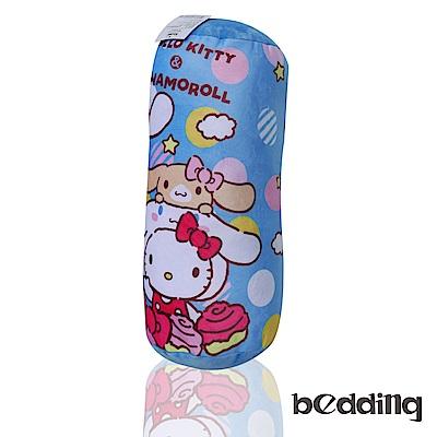 BEDDING Hello Kitty三麗鷗正版授權圓筒抱枕-藍色凱蒂貓