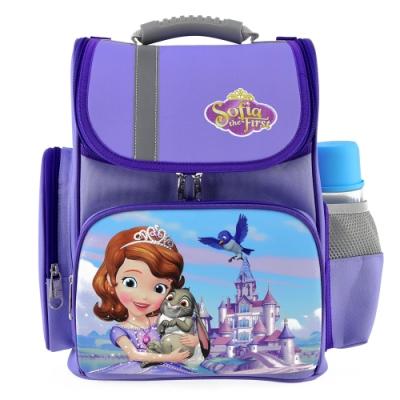 迪士尼小公主蘇菲亞 立體護脊透氣書包 紫色