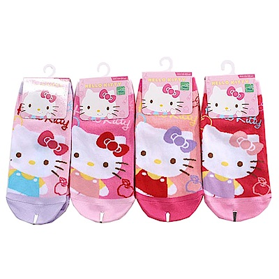 Hello kitty直版襪(三雙一組) k50988 魔法Baby