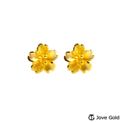 Jove Gold 漾金飾 櫻花季黃金耳環
