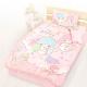 享夢城堡 精梳棉單人床包雙人涼被三件組-雙星仙子Little Twin Stars 小熊扮家家-粉 product thumbnail 1