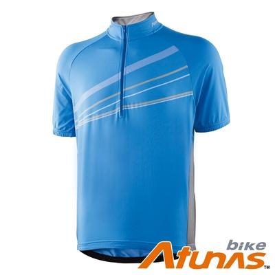【Atunas 歐都納 Bike】男款防曬吸濕排汗短袖車衣B13022M藍灰/大尺碼/零碼出清