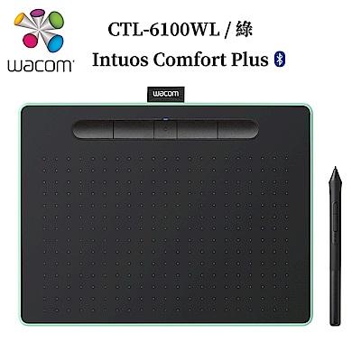 福利品-Wacom Intuos Comfort Plus Medium繪圖板(藍芽)-綠