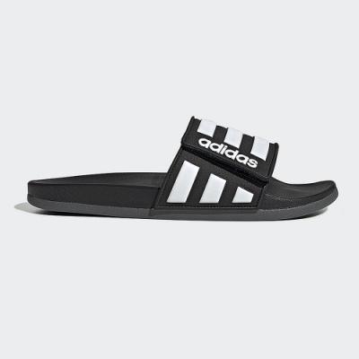 adidas 運動拖鞋 魔鬼氈  休閒  男女鞋 黑 EG1344 ADILETTE COMFORT ADJ