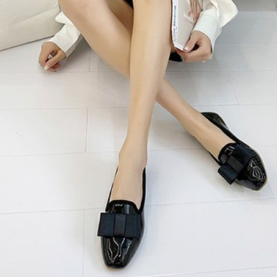 韓國KW美鞋館-(現貨)時尚穿搭機能唯美主義樂福鞋(共1色)