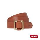 Levis 女款 皮帶 方形金屬釦 經典雙馬壓紋
