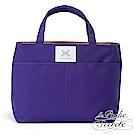La Poche Secrete 漾彩帆布手提袋中袋-魅力紫