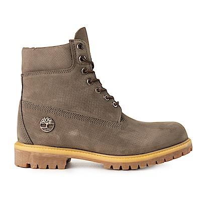 Timberland 男款橄欖色正絨面皮革靴 | A1U8V901