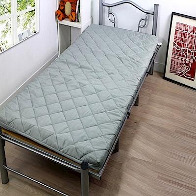 Gloria 竹炭舖棉釋壓記憶單人床墊-灰色