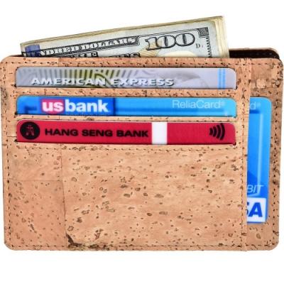《Kinzd》防盜L型證件卡夾(木紋)