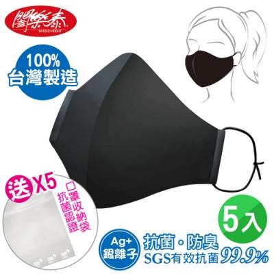 闔樂泰 奈米銀離子抗菌機能口罩5入(買就送口罩抗菌收納袋)