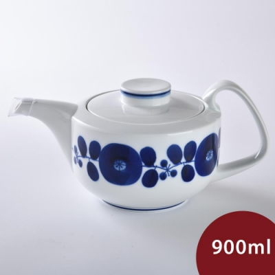 日本 Hakusan  BLOOM 茶壺 花圈 900ml
