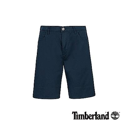 Timberland 男款深藍寶石色彈力反折短褲|A1WK4