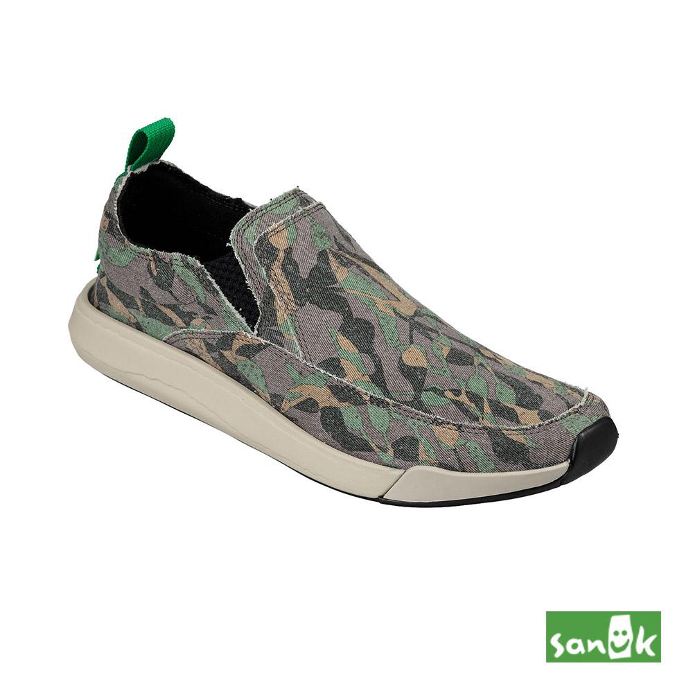 SANUK CHIBA QUEST FUNK迷彩風格休閒鞋-中性款(水洗綠