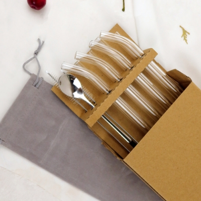 【Caldo卡朵生活】滿滿玻璃吸管家用12件組(快)
