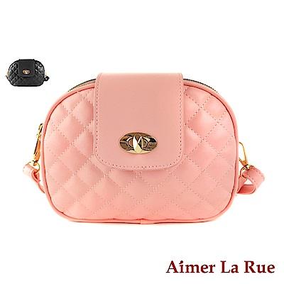 Aimer La Rue 側背包 芙曼格菱格紋多層側背包(二色)