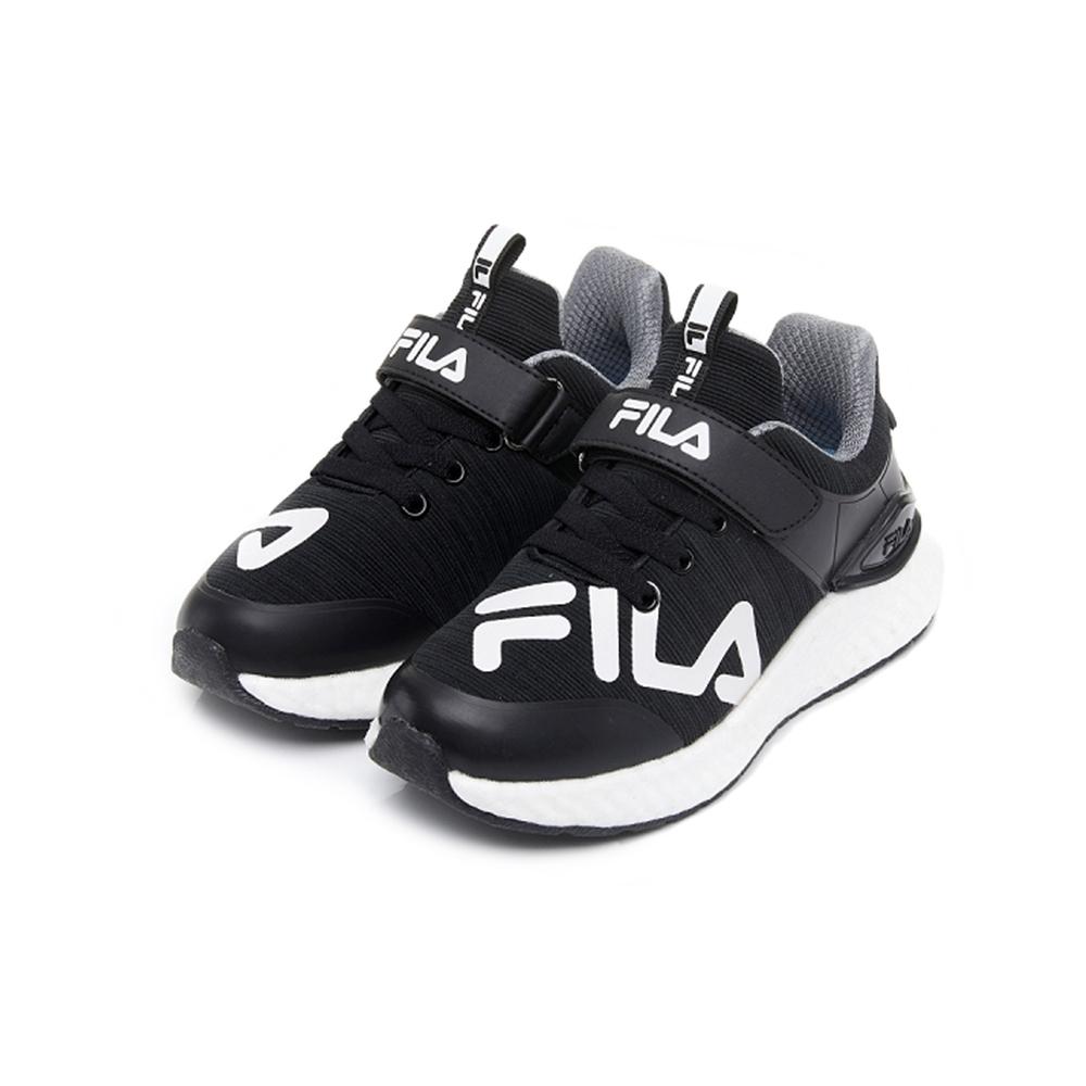 FILA KIDS 大童MD輕量慢跑鞋-黑 3-J809U-011