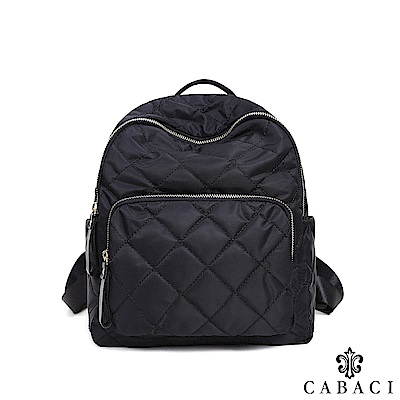 CABACI 經典菱格繡線後背包