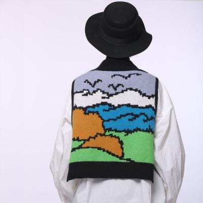 設計所在Style-秋裝新品搭肩小披肩勾花針織披肩秋冬護頸圍脖