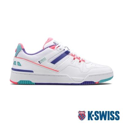 K-SWISS Match Rival 時尚運動鞋-女-白/超桃氣粉紫/桃紅