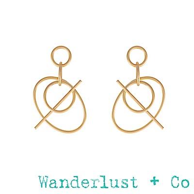 Wanderlust+Co Infusion系列  金色耳環