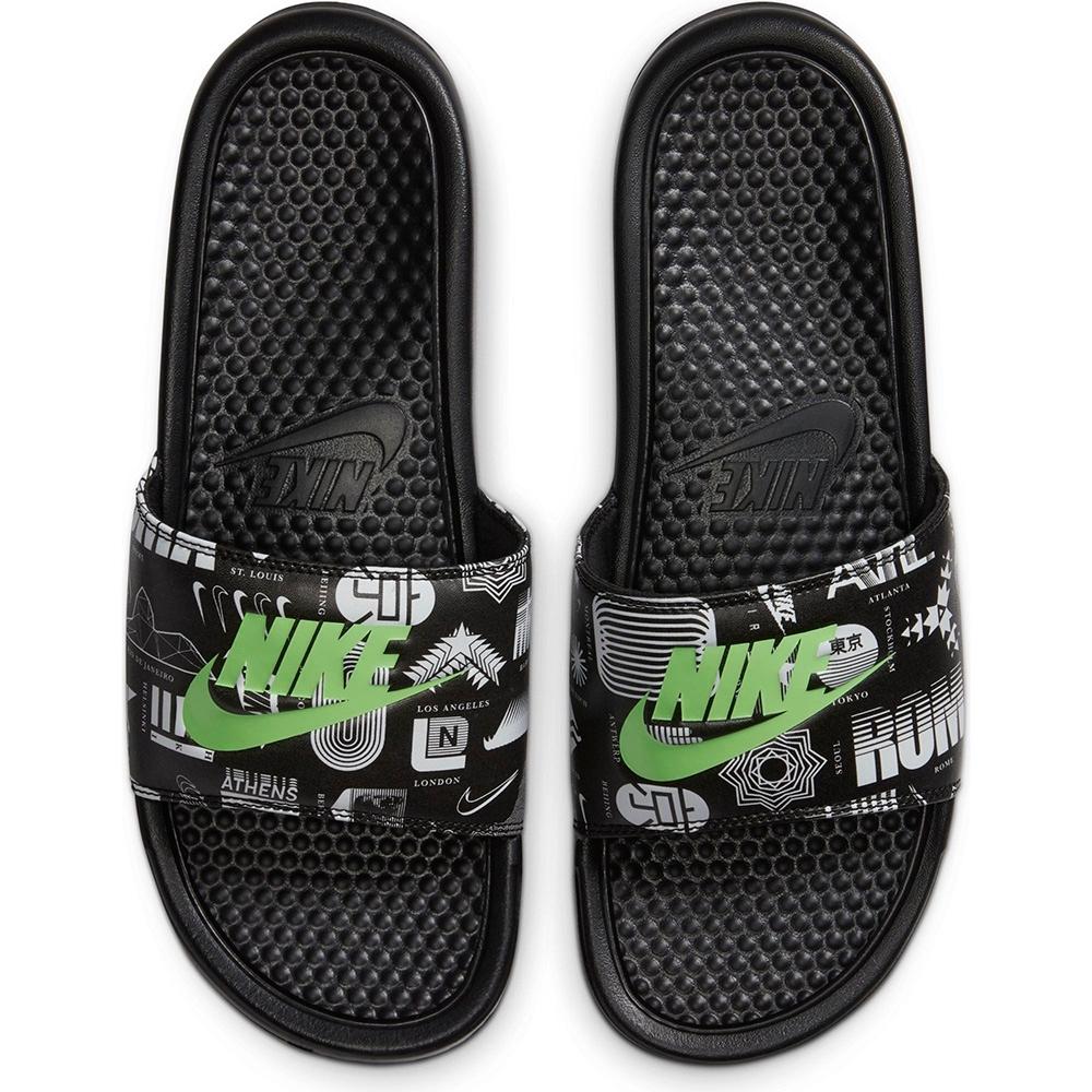 NIKE 拖鞋 運動 休閒 舒適 男女鞋 黑 631261042 Benassi JDI Print