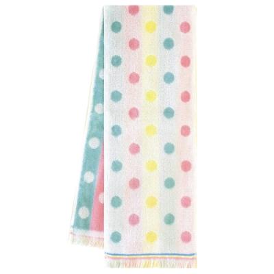 日本丸真 Eco de COOL 涼感運動毛巾 水玉點點雙面條紋粉綠