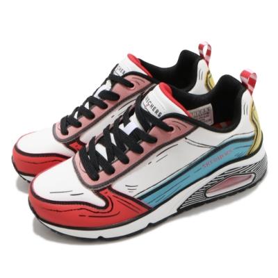 Skechers 休閒鞋 Uno-Jumps and Kicks 女鞋 支撐 緩衝 氣墊 耐用 蘇斯博士聯名款 白 紅 155320WMLT